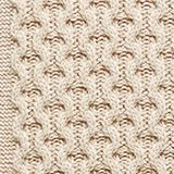 Recycled melange cable knit jumper, LIGHT BEIGE, swatch