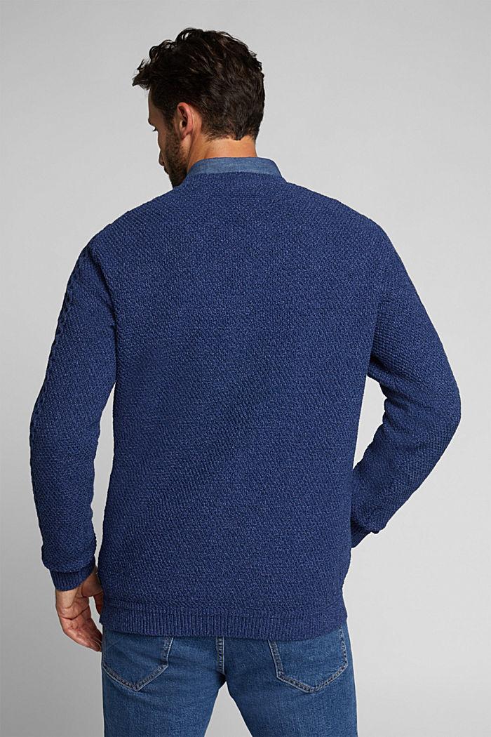 Recycled melange cable knit jumper, INK, detail image number 3