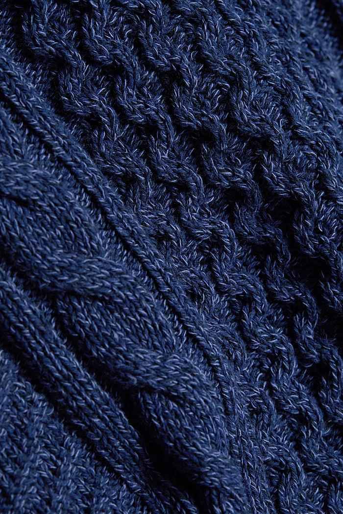 Gerecycled: gemêleerde gebreide trui met kabelpatroon, INK, detail image number 4