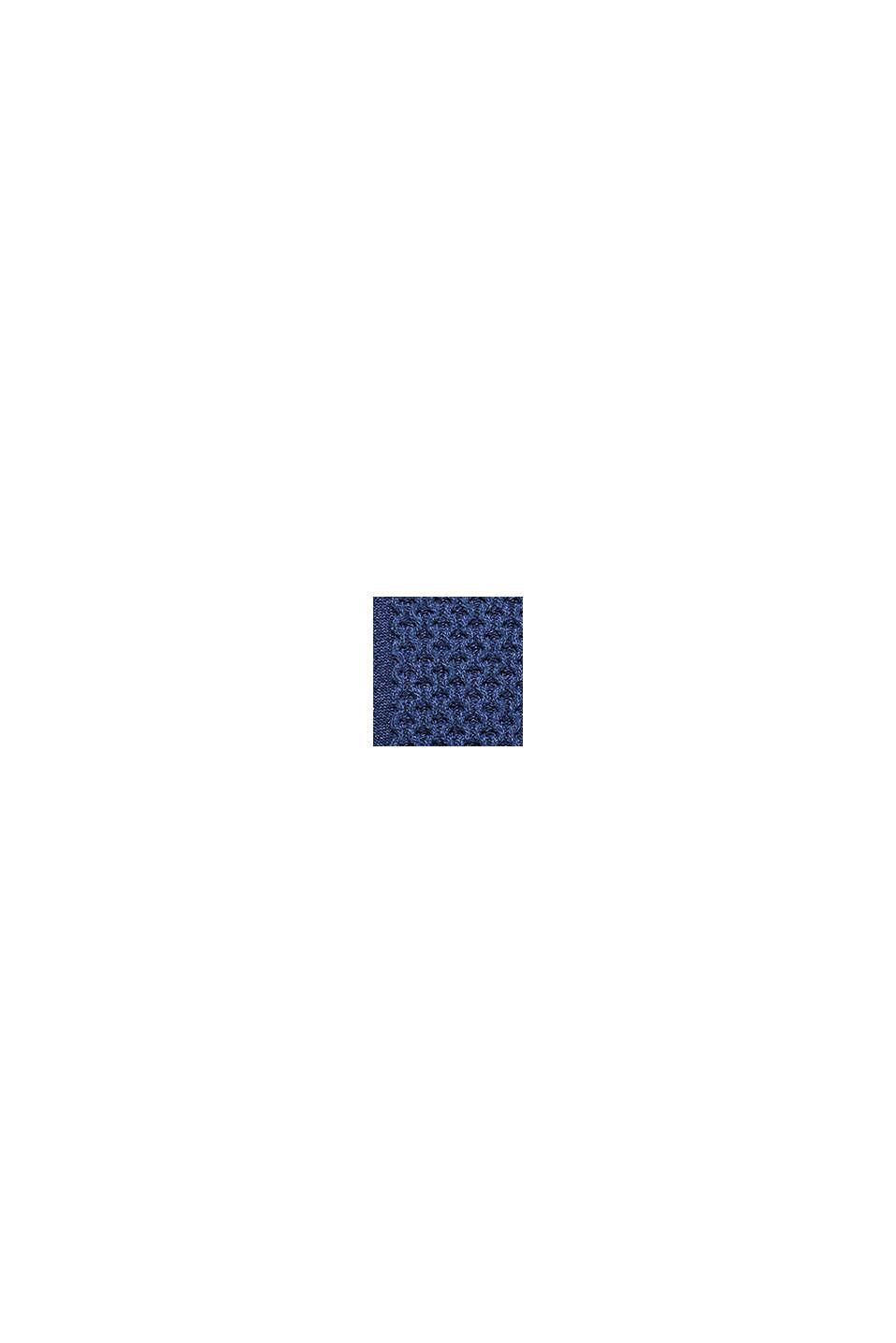 Recycelt: melierter Zopfstrick-Pullover, INK, swatch