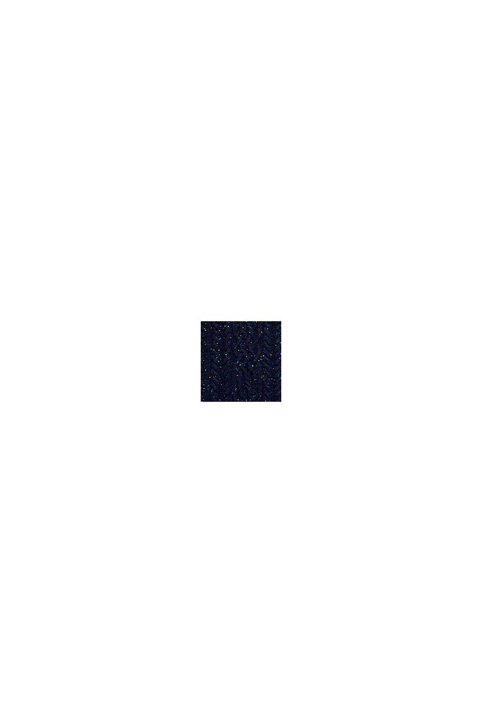 En laine mélangée: le pull-over texturé animé de picots colorés, NAVY, swatch