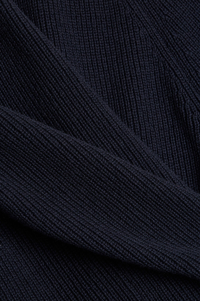 Wool blend: ribbed knit jumper, NAVY, detail image number 4