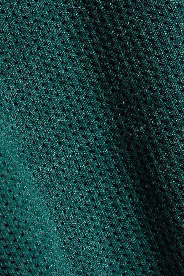 Recycled: Long sleeve top with organic cotton, BOTTLE GREEN, detail image number 4
