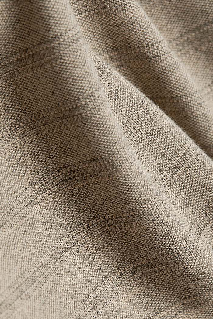 Jersey top with a texture, organic cotton, LIGHT BEIGE, detail image number 4