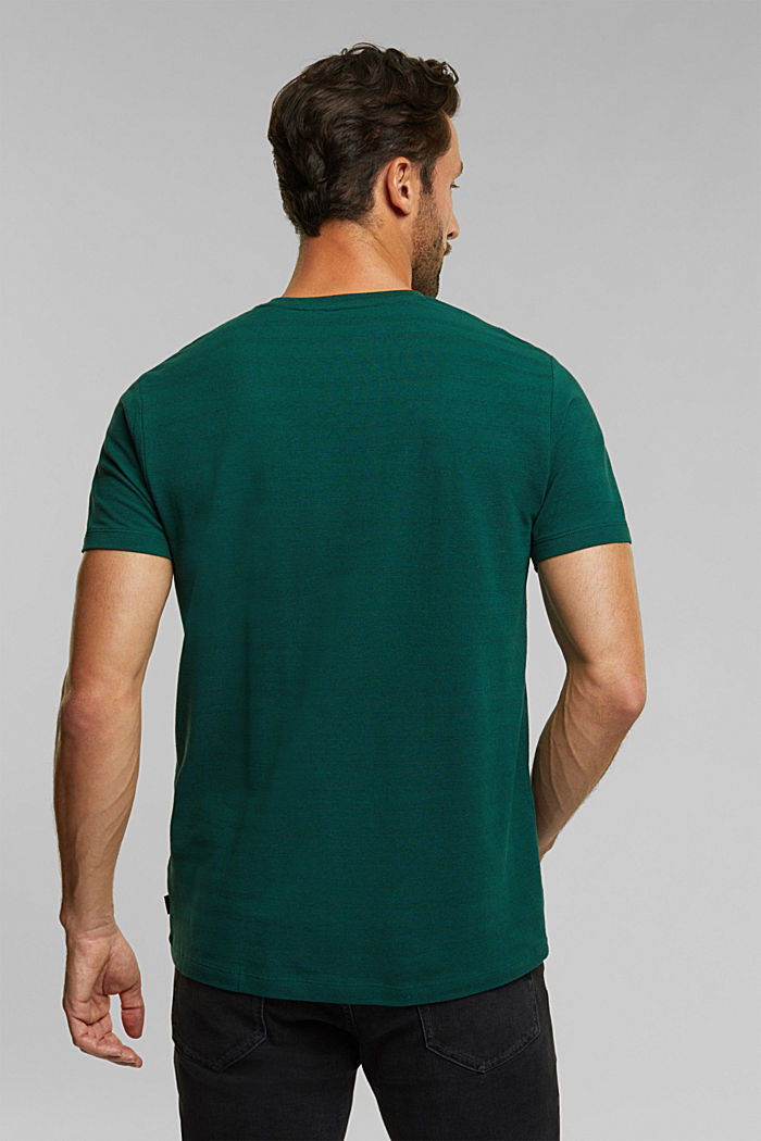 Jersey top with a texture, organic cotton, BOTTLE GREEN, detail image number 3