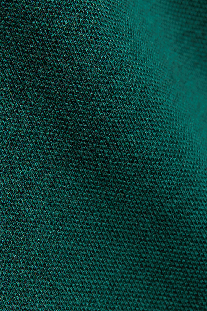 Jersey top with a texture, organic cotton, BOTTLE GREEN, detail image number 4