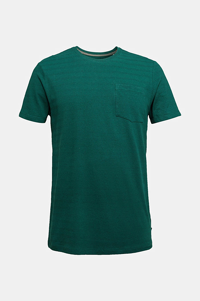 Jersey top with a texture, organic cotton, BOTTLE GREEN, detail image number 6