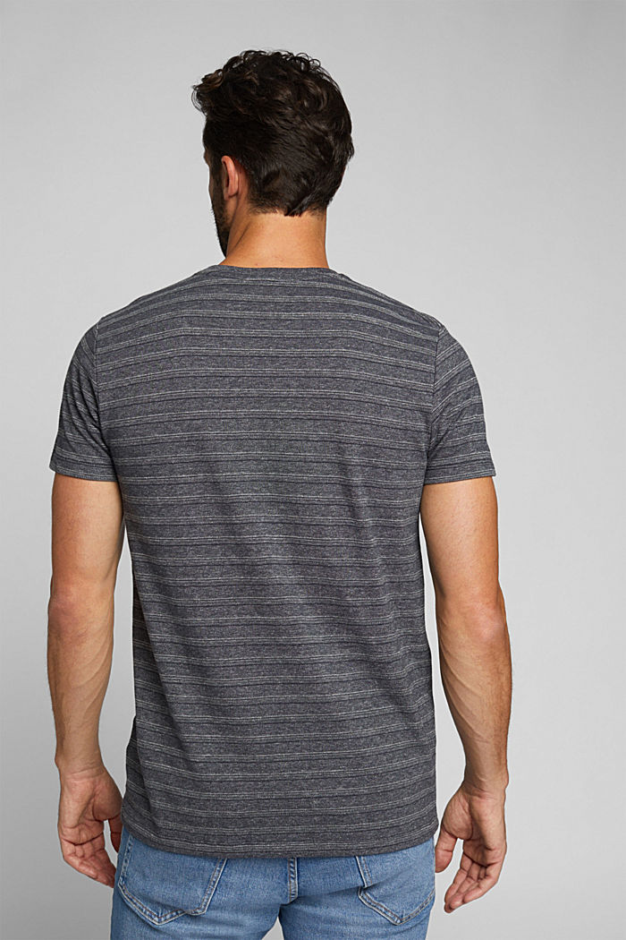 Jersey top with a texture, organic cotton, NAVY, detail image number 3