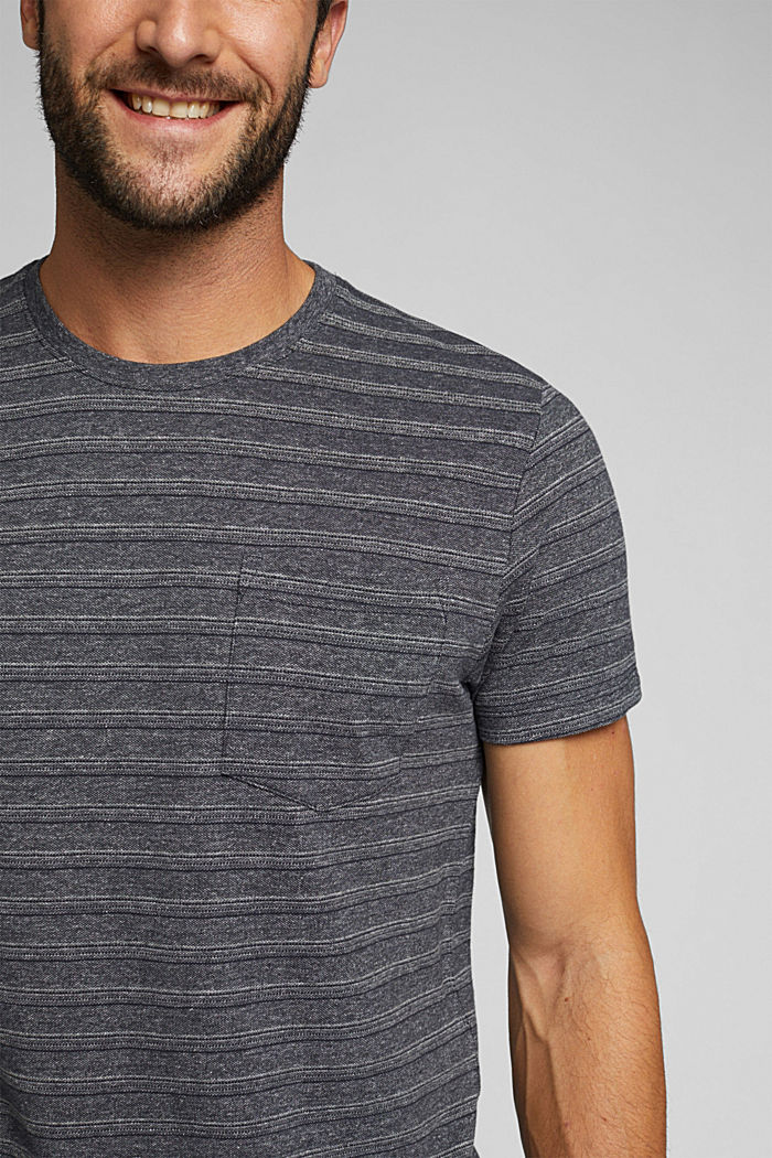 Jersey top with a texture, organic cotton, NAVY, detail image number 1