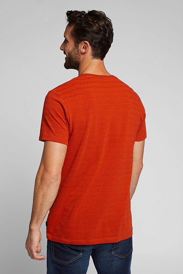 Jersey-Shirt mit Struktur, Bio-Baumwolle, BURNT ORANGE, detail image number 3