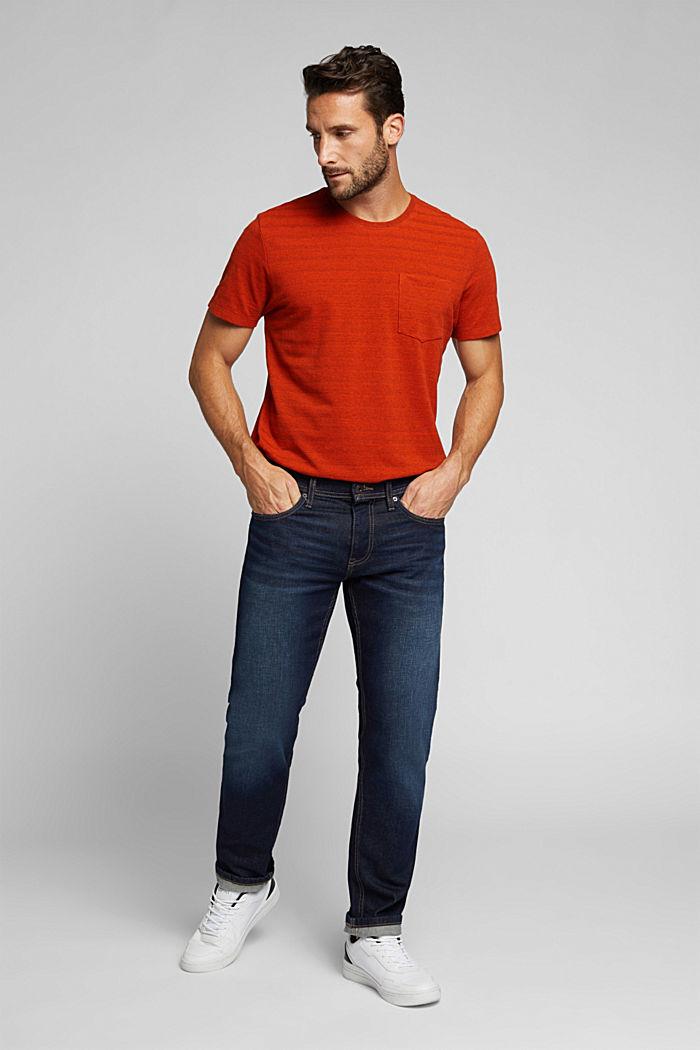 Jersey-Shirt mit Struktur, Bio-Baumwolle, BURNT ORANGE, detail image number 2