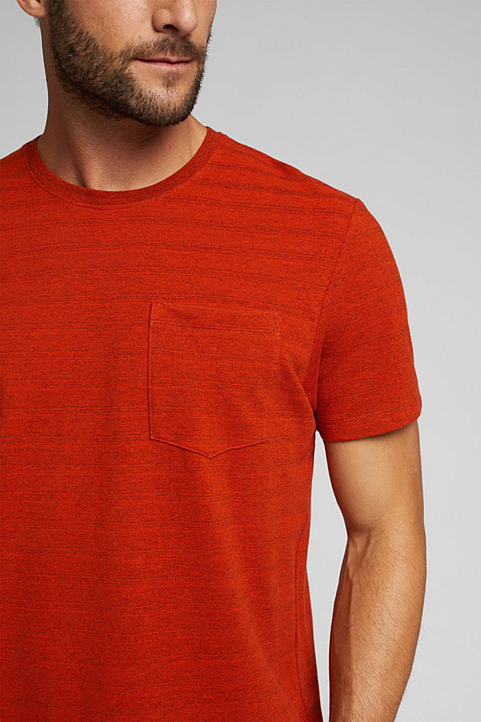 Jersey top with a texture, organic cotton, BURNT ORANGE, detail image number 1