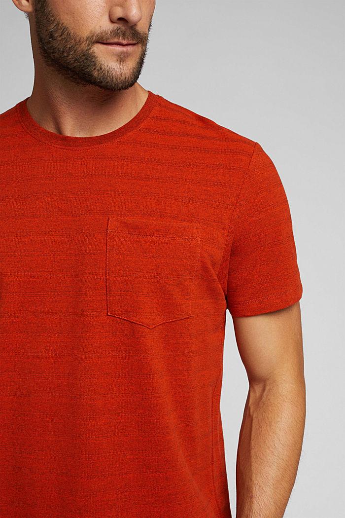 Jersey-Shirt mit Struktur, Bio-Baumwolle, BURNT ORANGE, detail image number 1