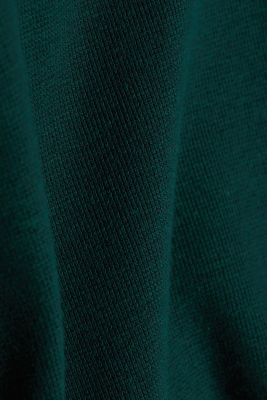 Recycled: Long sleeve Henley top made of jersey, BOTTLE GREEN 5, detail