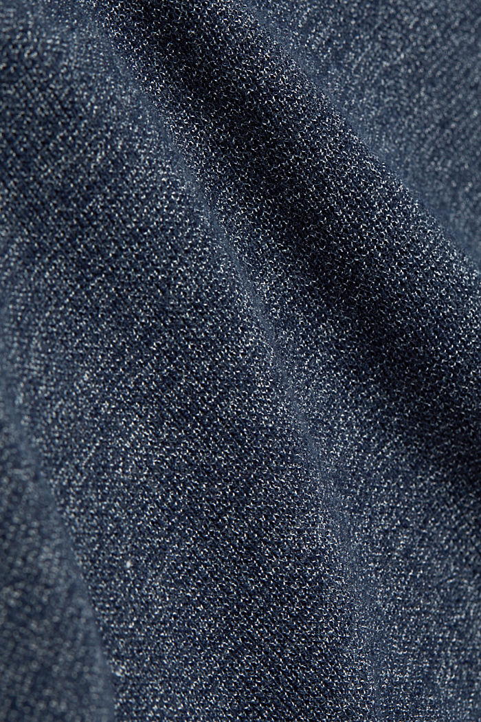 Recycled: Long sleeve Henley top made of jersey, NAVY, detail image number 4
