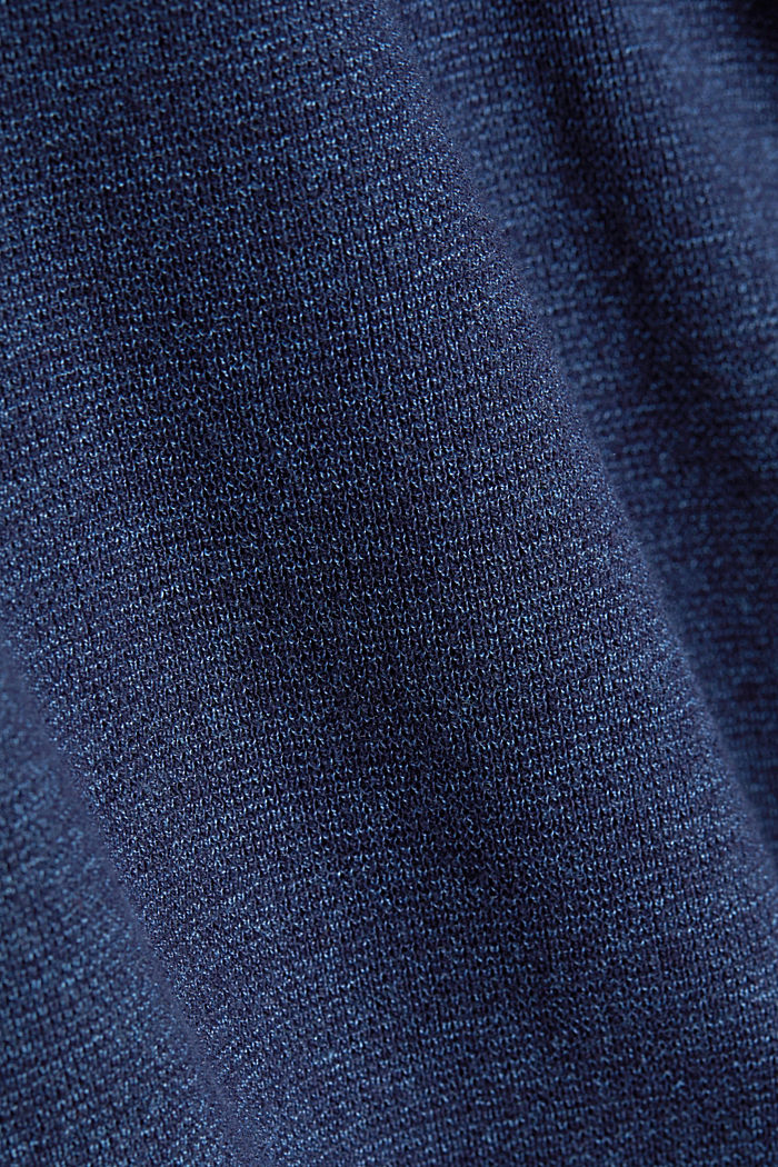 Recycled: Long sleeve Henley top made of jersey, INK, detail image number 4
