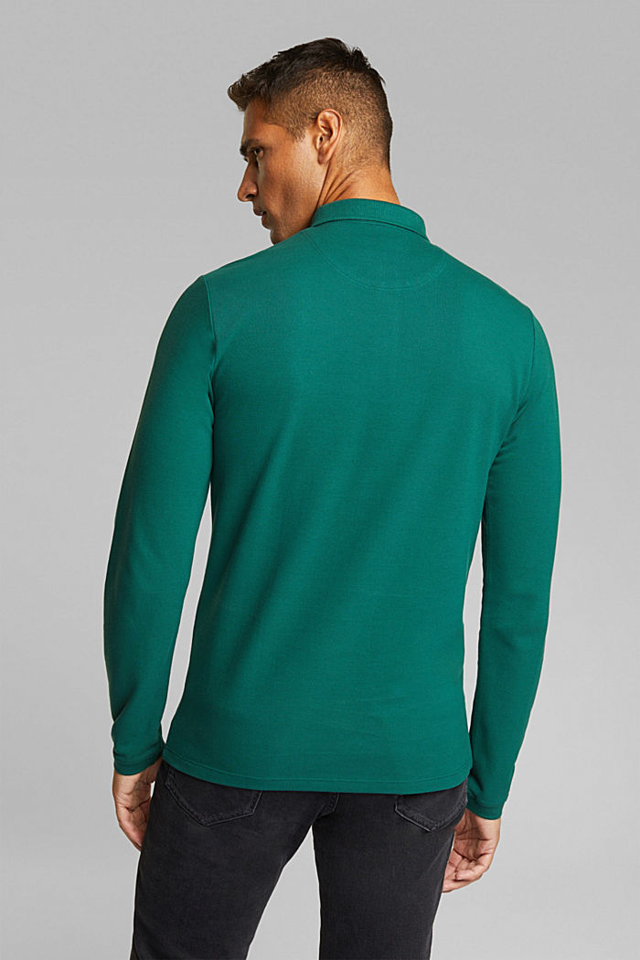 Piqué polo shirt made of 100% organic cotton, BOTTLE GREEN, detail image number 2