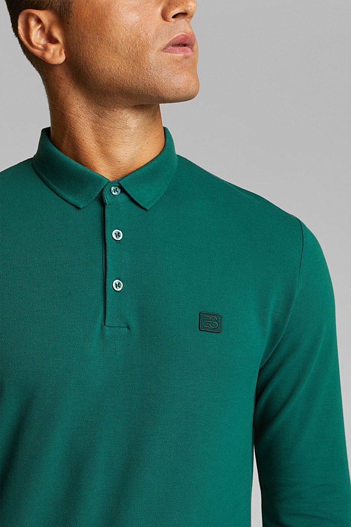 Piqué polo shirt made of 100% organic cotton, BOTTLE GREEN, detail image number 0