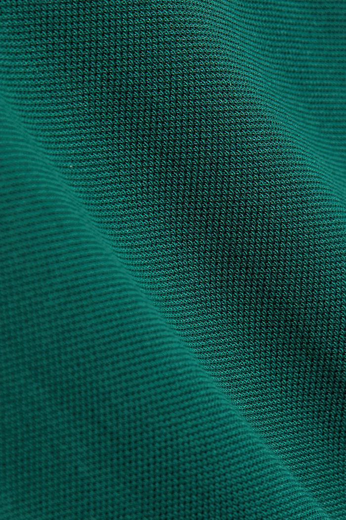 Piqué polo shirt made of 100% organic cotton, BOTTLE GREEN, detail image number 3