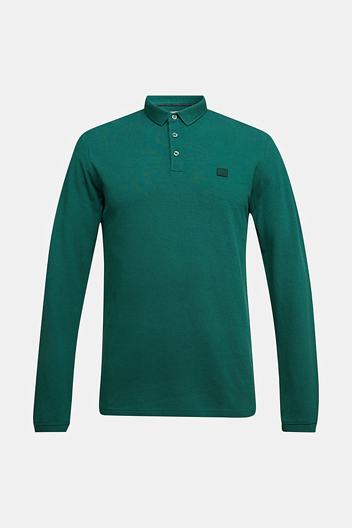 Piqué polo shirt made of 100% organic cotton, BOTTLE GREEN, detail image number 4