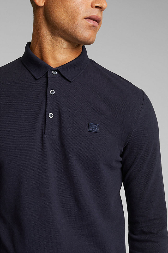 Piqué polo shirt made of 100% organic cotton, NAVY, detail image number 1