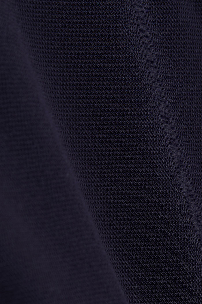Piqué polo shirt made of 100% organic cotton, NAVY, detail image number 4