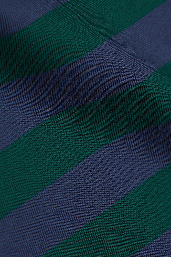 Striped jersey long sleeve top, organic cotton, BOTTLE GREEN, detail image number 4