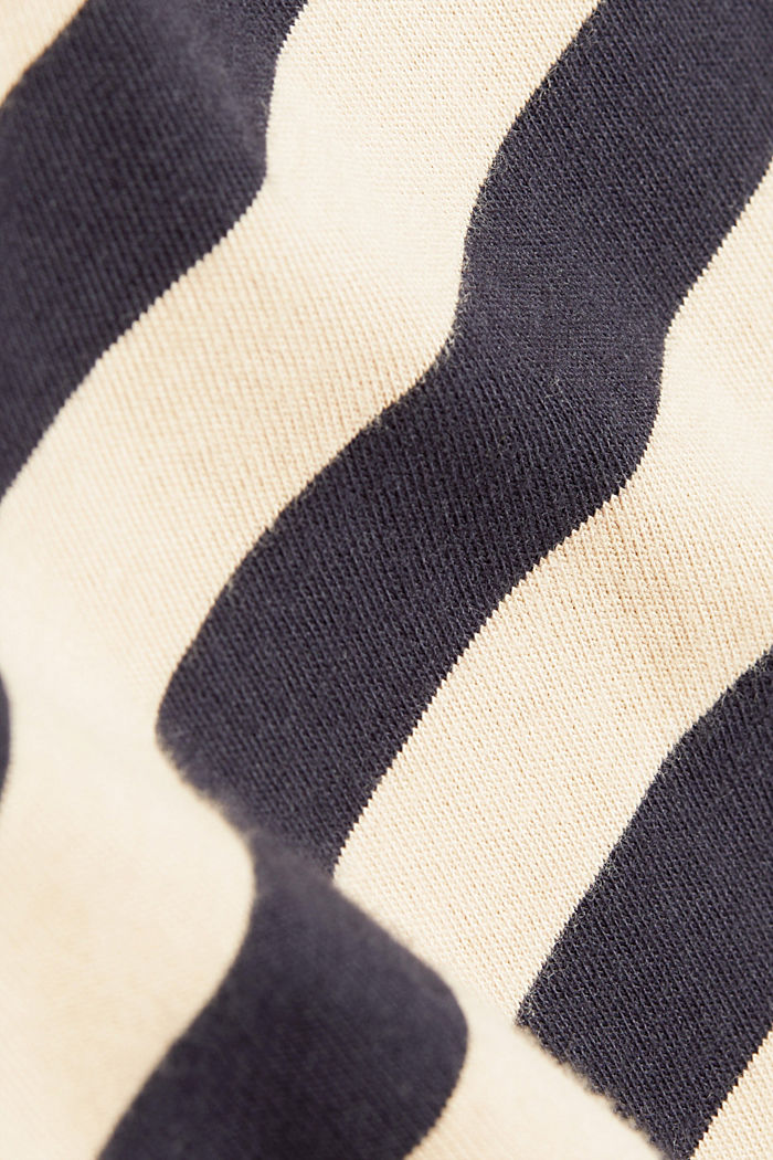 Striped jersey long sleeve top, organic cotton, NAVY, detail image number 4