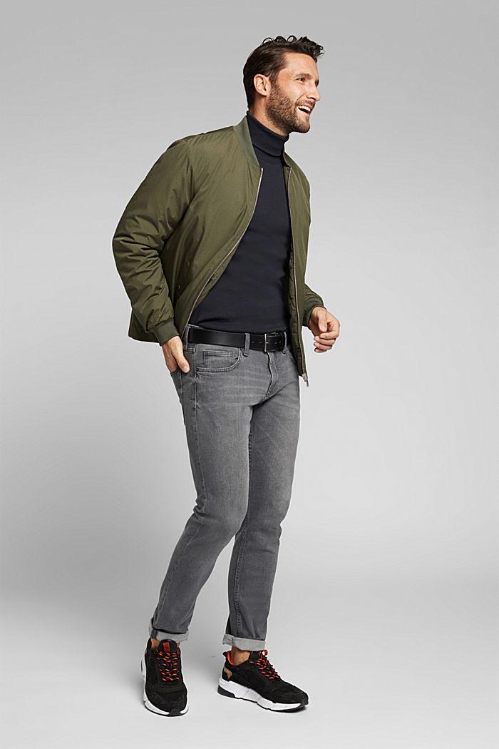 Camiseta de manga larga con cuello vuelto, 100 % algodón ecológico, BLACK, detail image number 2