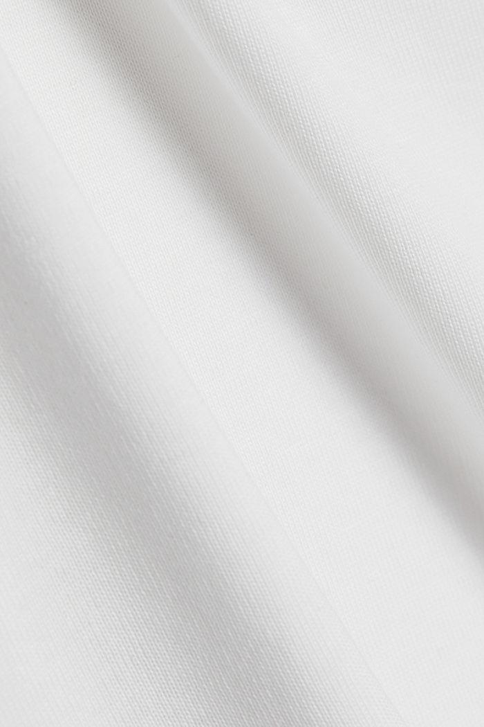 Rollkragen-Jersey-Longsleeve, Bio-Baumwolle, OFF WHITE, detail image number 4