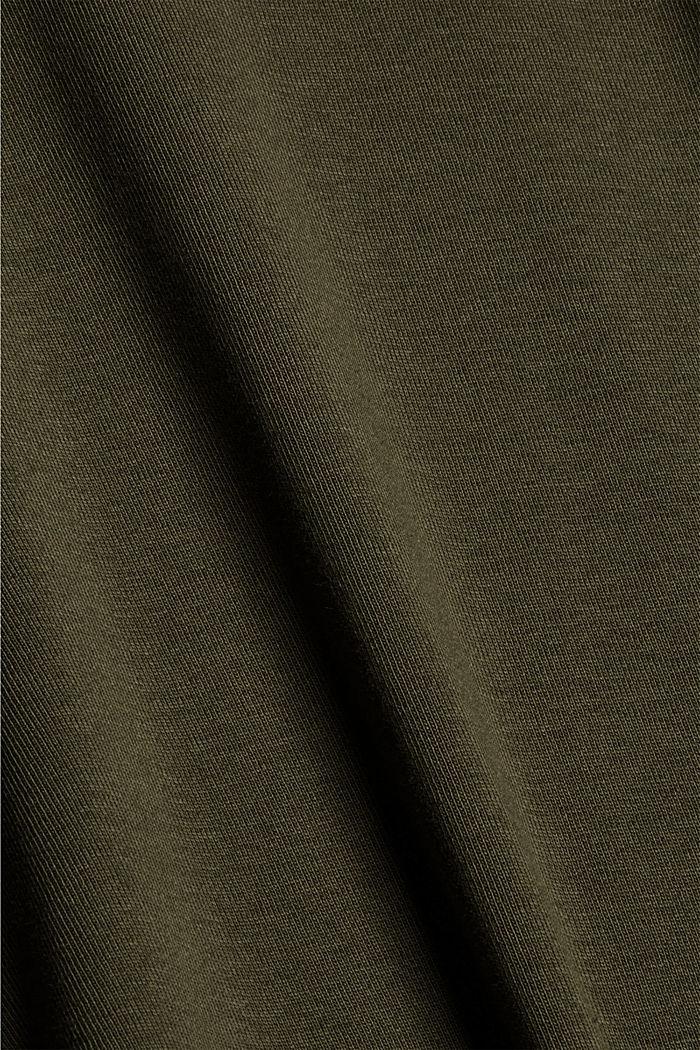 Rollkragen-Longsleeve, 100% Bio-Baumwolle, DARK KHAKI, detail image number 4