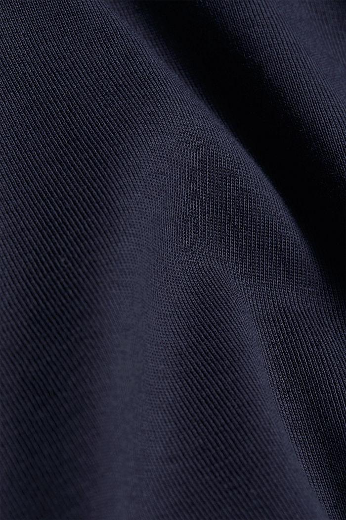 Rollkragen-Longsleeve, 100% Bio-Baumwolle, NAVY, detail image number 4