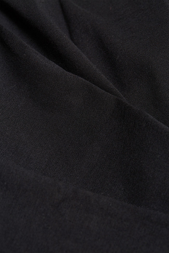 Long sleeve jersey top, 100% organic cotton, BLACK, detail image number 4