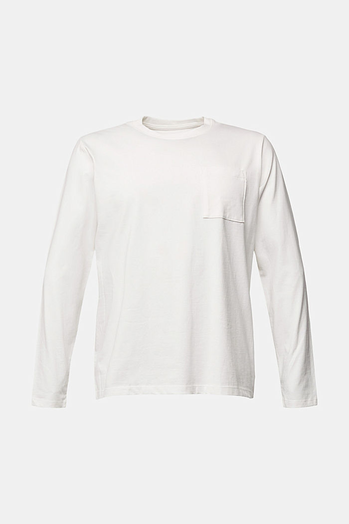 Long sleeve jersey top, 100% organic cotton, OFF WHITE, detail image number 5
