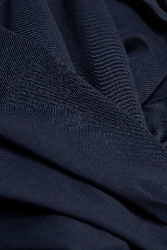 Long sleeve jersey top, 100% organic cotton, NAVY, detail image number 4