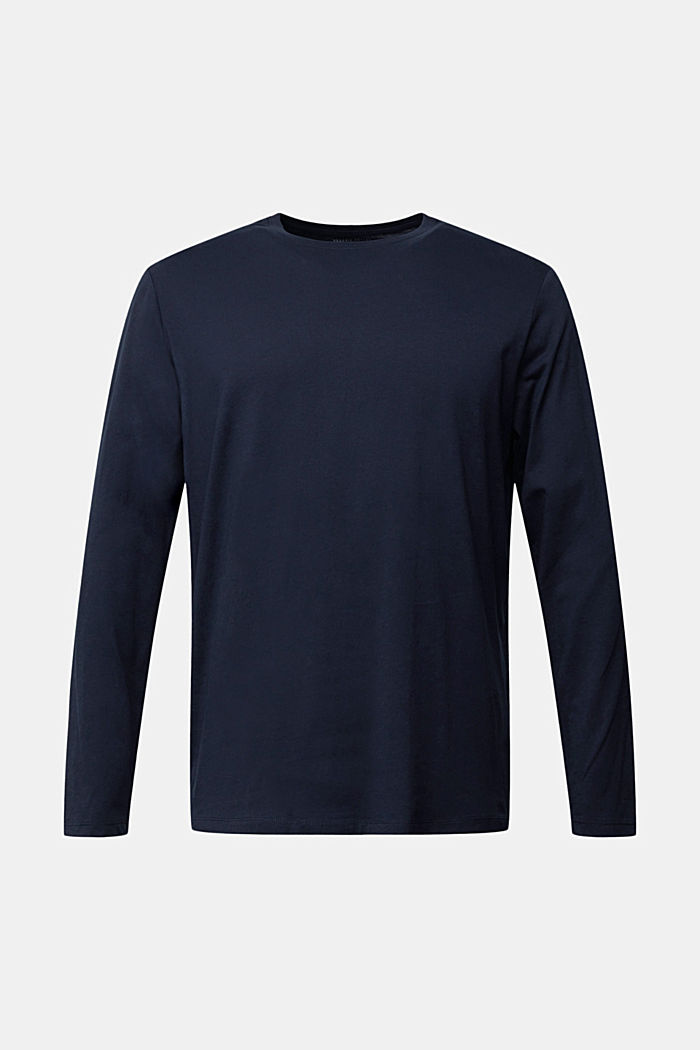 Long sleeve jersey top, 100% organic cotton, NAVY, detail image number 6
