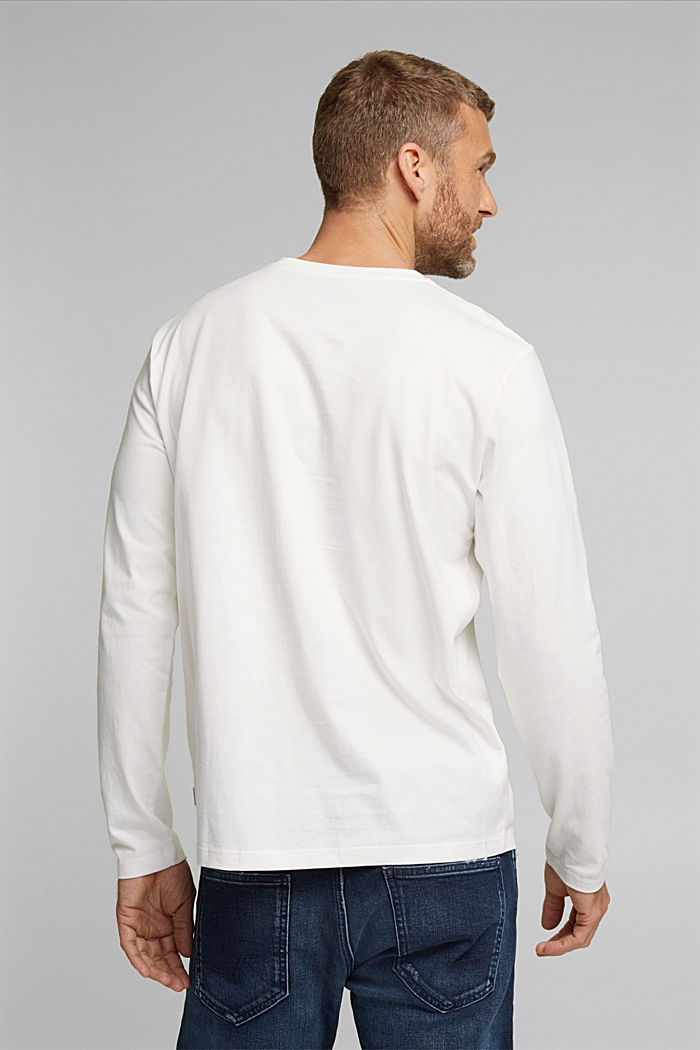 Long sleeve jersey top, 100% organic cotton, OFF WHITE, detail image number 3