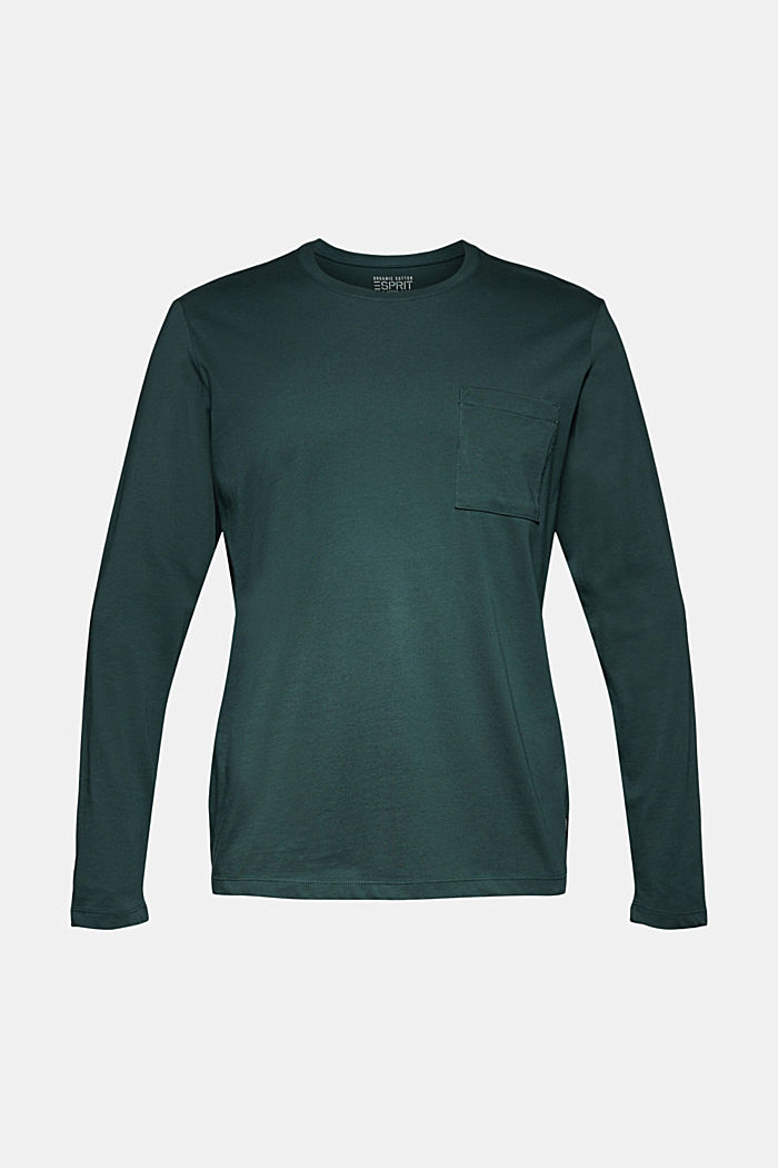 Long sleeve jersey top, 100% organic cotton, TEAL BLUE, detail image number 6