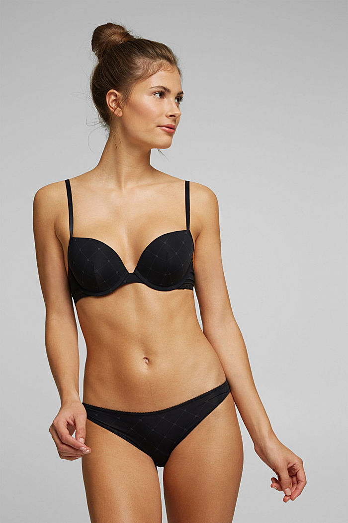 Recycled: push-up underwire bra