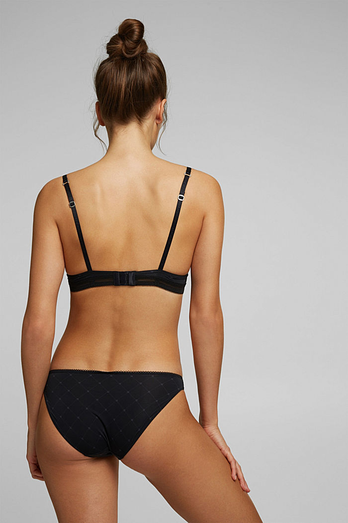 Recycled: push-up underwire bra, BLACK, detail image number 1