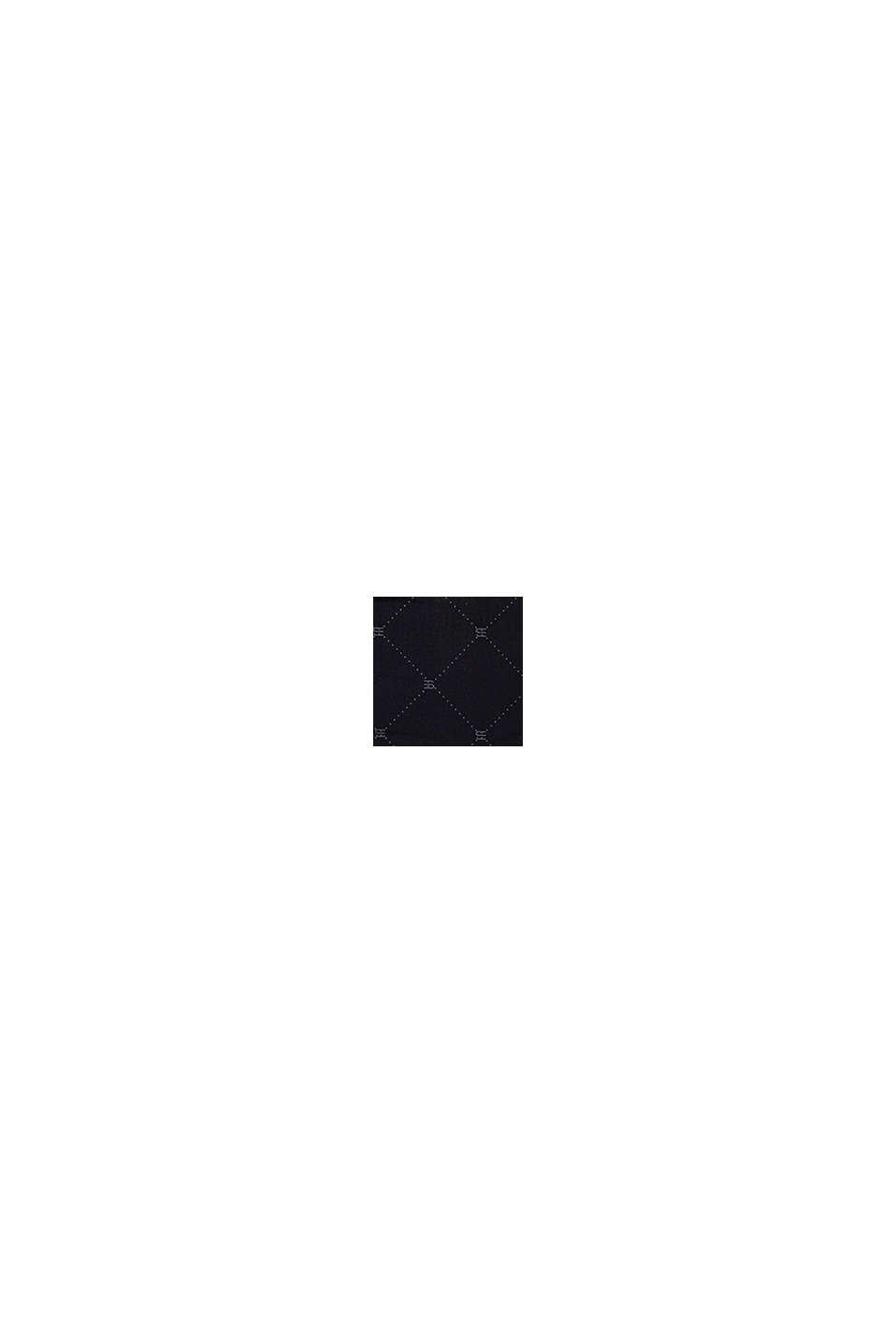 Z recyklingu: szorty z nadrukowanym monogramem, BLACK, swatch