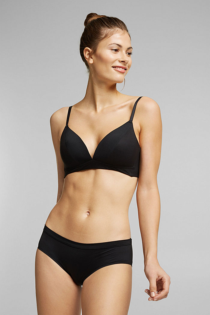 Non-wired bra with padded cups, BLACK, detail image number 0