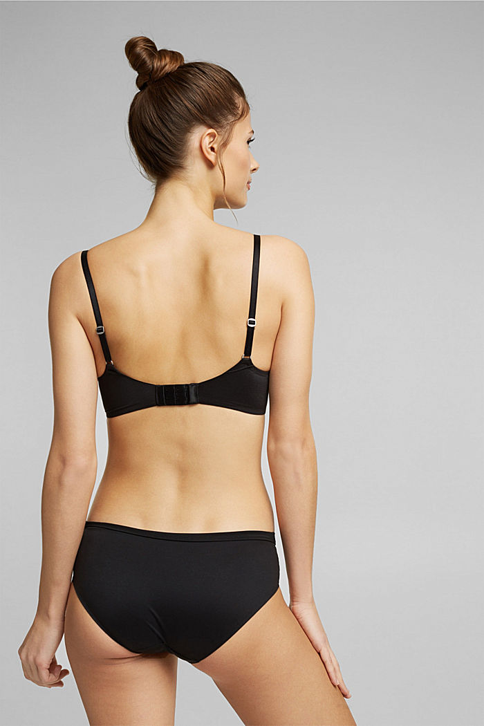 Non-wired bra with padded cups, BLACK, detail image number 1