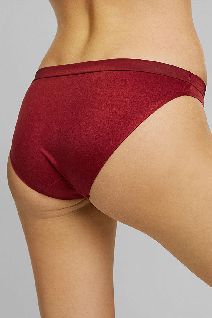 Soft, comfortable hipster briefs, DARK RED, detail image number 3