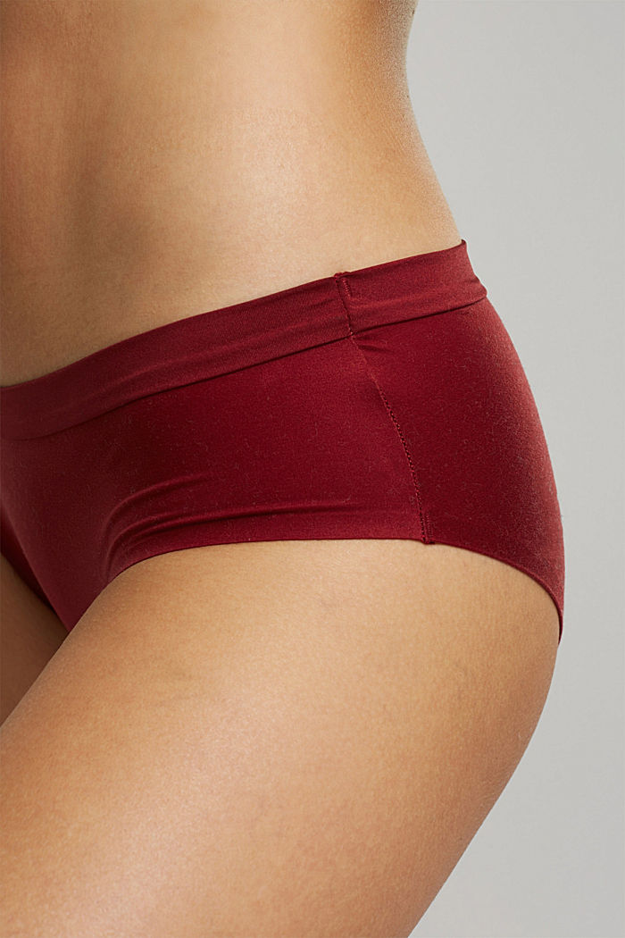 Soft, comfortable hipster shorts, DARK RED, detail image number 1