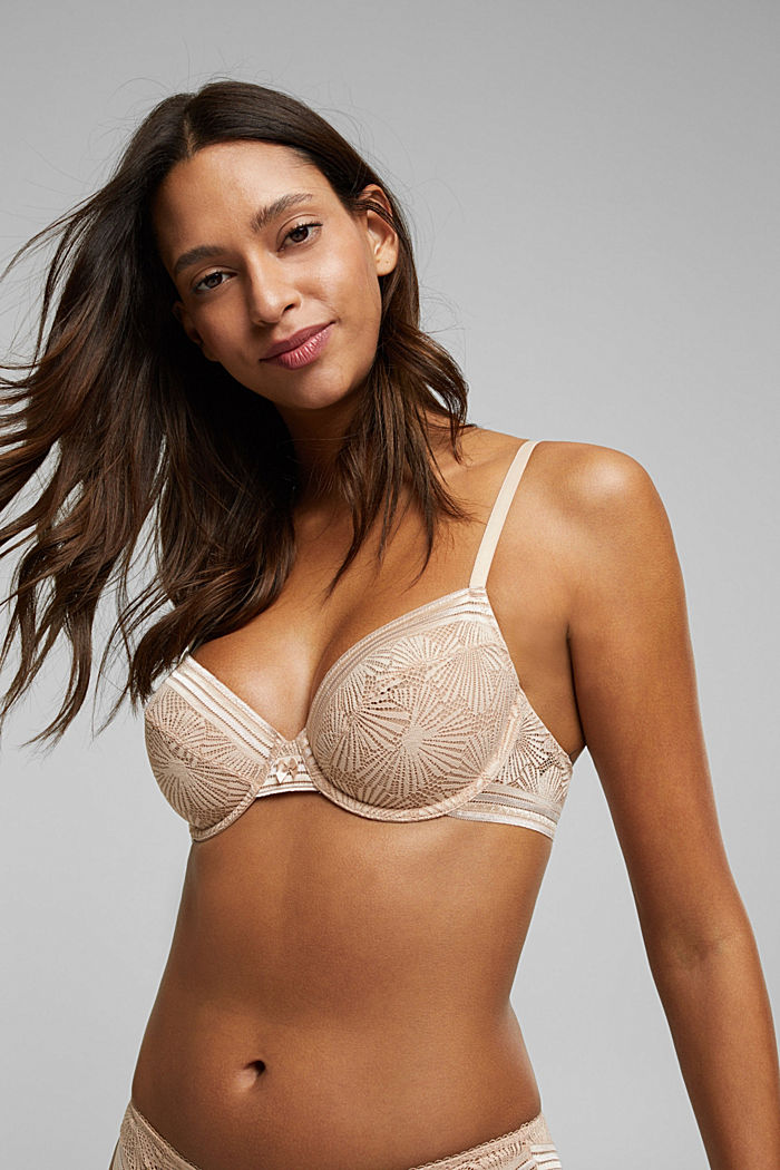 Recycled: underwire bra with lace