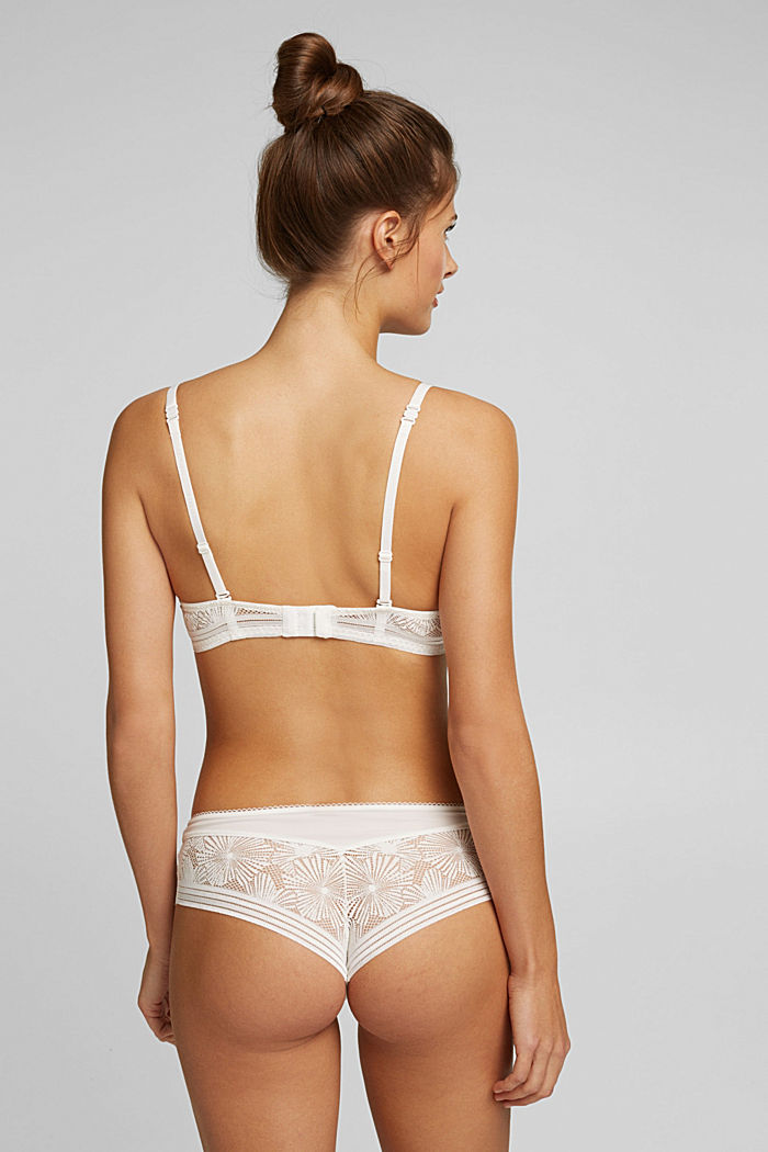 Recycled: underwire bra with lace, OFF WHITE, detail image number 1