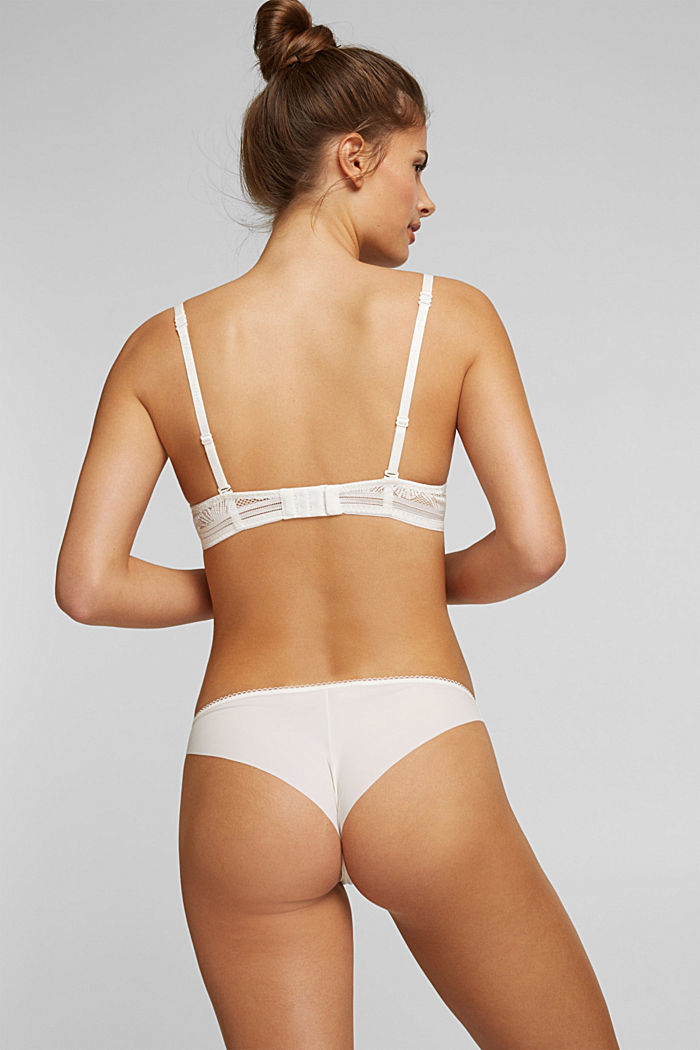 Recycled: hipster briefs with lace, OFF WHITE, detail image number 2
