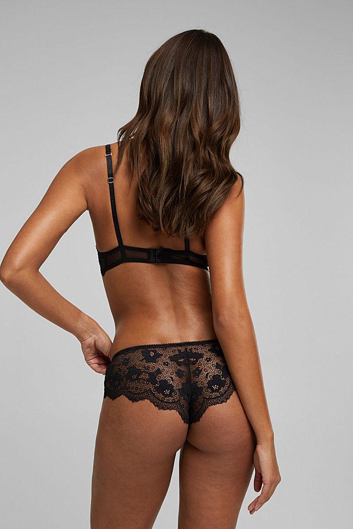 Lace push-up bra, BLACK, detail image number 1