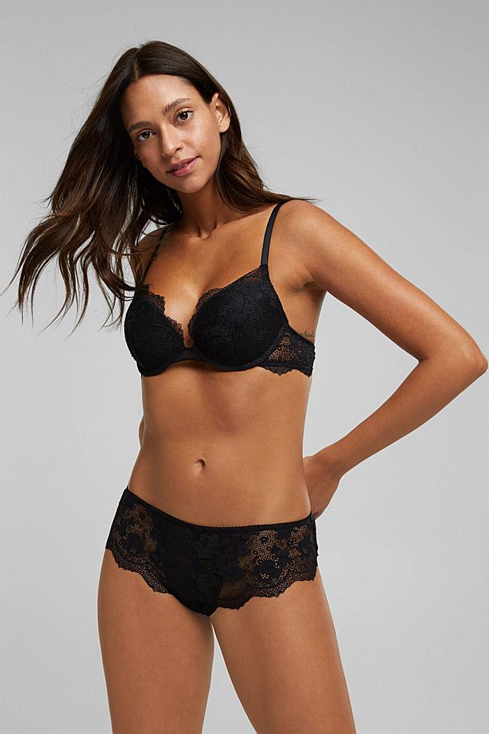 Lace push-up bra, BLACK, detail image number 2